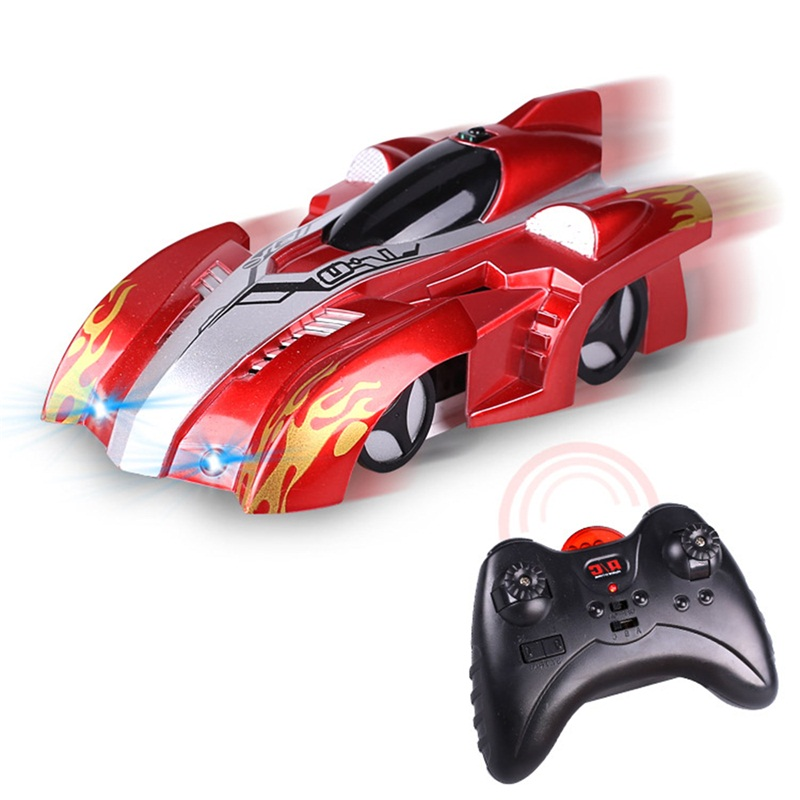 Wireless Electric RC Wall Climbing Car Remote Control Car Drift Flashing Mini Car Toys Model Bricks Race Toys For Baby Kids