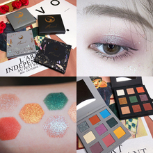 Natural Shimmer Matte Eyeshadow Pallete 9Color Diamond Glitter Makeup Palette Highly Pigmented Cosmetic