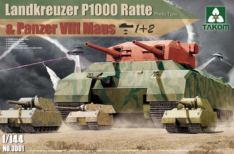 Takom 1 144 Landkreuzer P1000 Ratte Panzer VIII Maus 3001