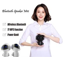 New Robot Speaker Bluetooth Mini Bass Stereo Music Box Smart Handsfree Loudspeaker With MIC And Power Bank For Phone Computer