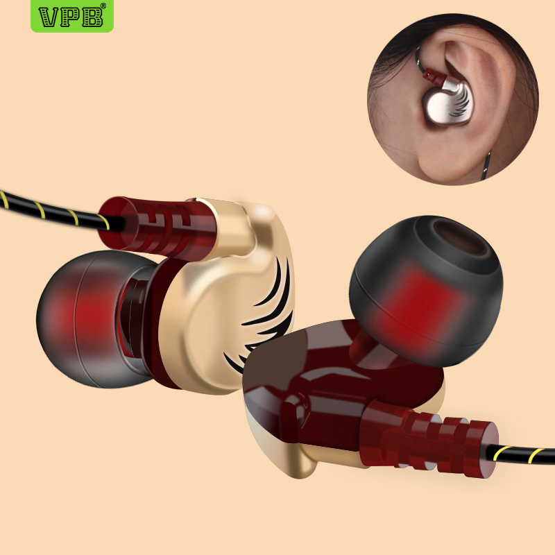 VPB V11 Sport Earphone Wired Super Bass 3.5mm Crack Earphone Earbud With Microphone Hands Free Headset For Samsung