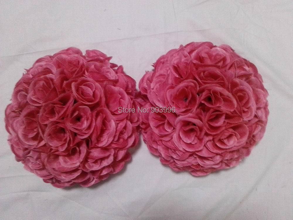 50 cm prune intérieur en plastique fleur boule-embrasser décoration de mariage ball-2pc/lot