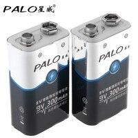 2 шт.! Пало 300 В мАч 9 В 6F22 батарея Ni-MH NiMH перезаряжаемые батарея 3A зарядный ток для мультиметр беспроводной микрофон сигнализации