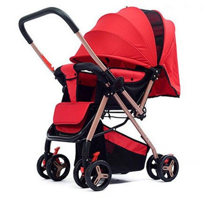 High-quality Can Sit & Lie Baby Carriage carrinho Portable Folding Umbrella Stroller Two-way Baby Pram Kinderwagen Bebek Arabas