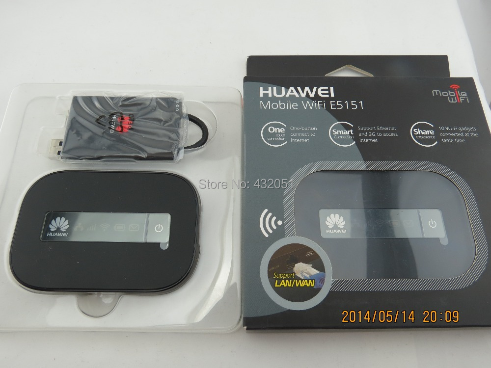 HUAWEI E5151 HSPA+ 21M Pocket Mobile WiFi Wireless Broadband Modem with LAN WAN