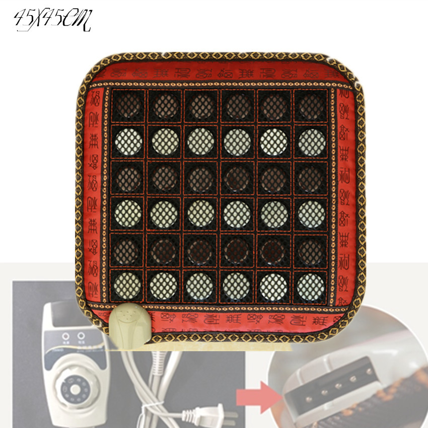 Thermal massage cushion heating electric hot stone sofa used jade hot new products for 2017 45*45CM hot sale jade cushion electric heated hot selling jade heating massage cushion 45 45cm