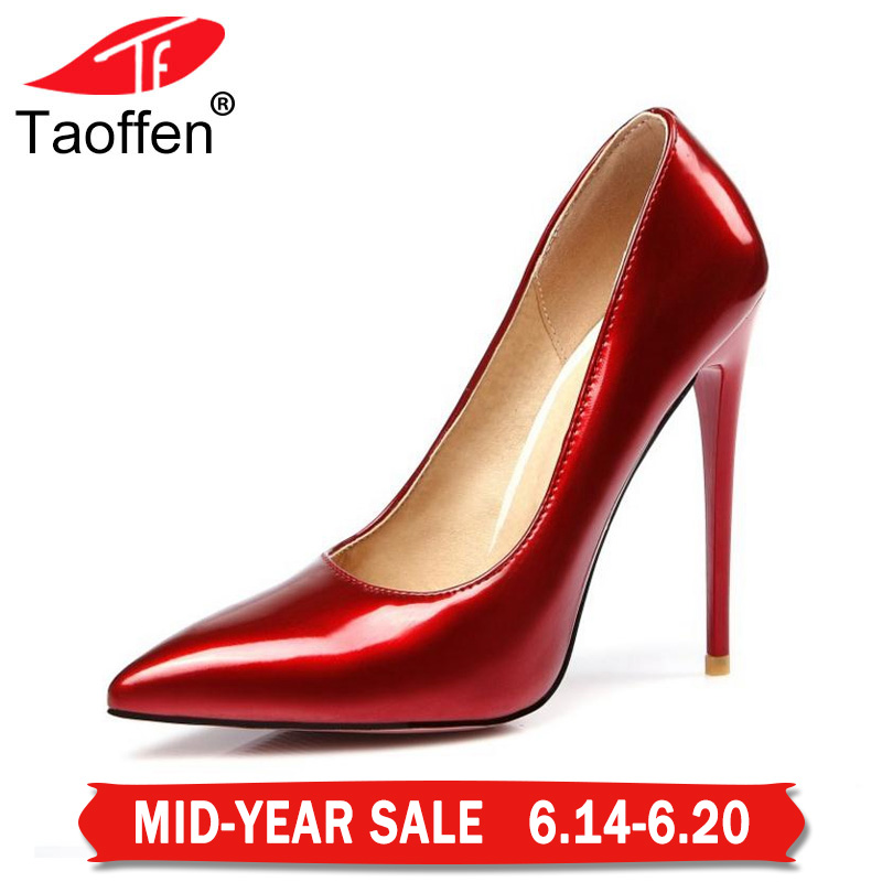 Women Fashion Pointed Toe Heels Shoes Woman Sexy Shallow Mouth Stiletto Woman Patent Leather Wedding High Heel Pumps Size 34-47 2017 shoes woman fashion sweet bowtie pointed toe sexy women party shallow mouth side hollow women thin high heel shoes