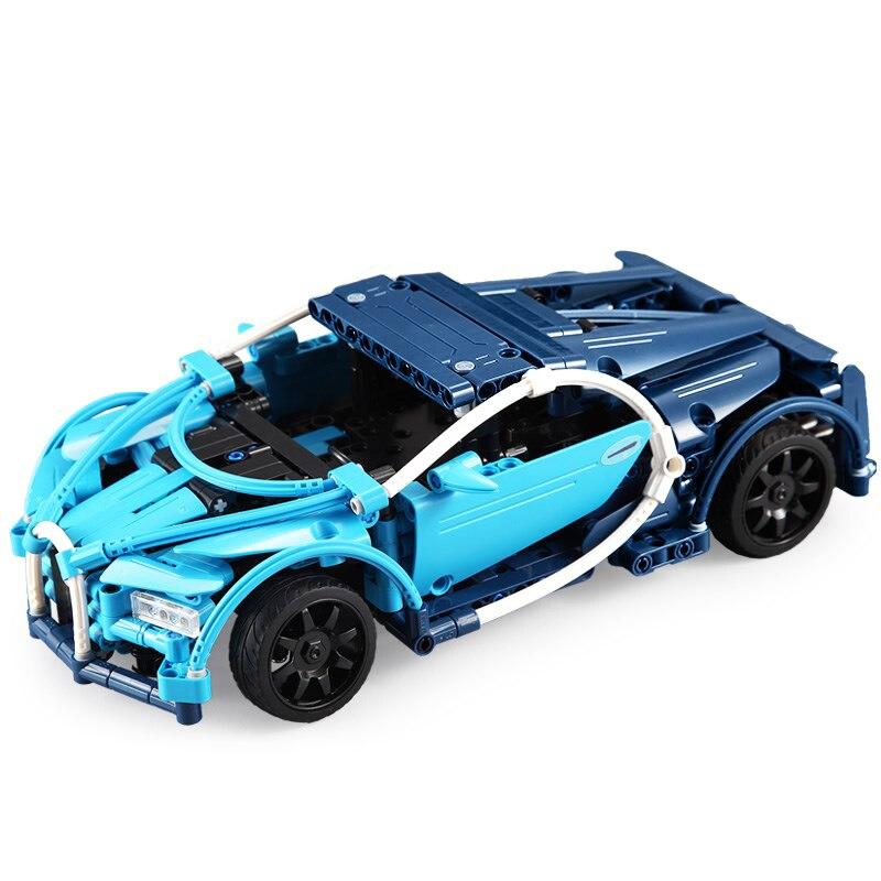 51053 419 pièces bricolage blocs de construction Technic série Super bleu sport course RC modèle de voiture Compatible avec les jouets pour les enfants
