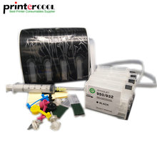 Continuous Ink Supply System For HP 932 933 CISS With Chip For HP Officejet Pro 6100 6600 6700 7110 Printer free shipping for hp 932 933 refillable ink cartridge with ink with permanent chips for hp officejet 7110 6100 ink jet printer
