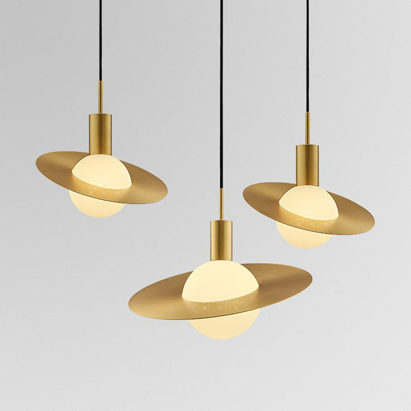 Nordic Designer Pendant Lamp Bedroom Plane Creative Personality Room Pendant Lights Bedside Lamp Simple Modern Living Room Lamp