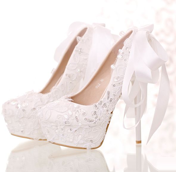 Popular Silver Lace Heels-Buy Cheap Silver Lace Heels lots from ...