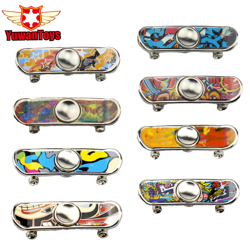 Hard-Working Hot Fingerskateboard & Fingerboard Alloy Stents Scrub Finger Scooter Skate Metal Hand Spinner Skateboard Most Popular Toys Fidget Spinner
