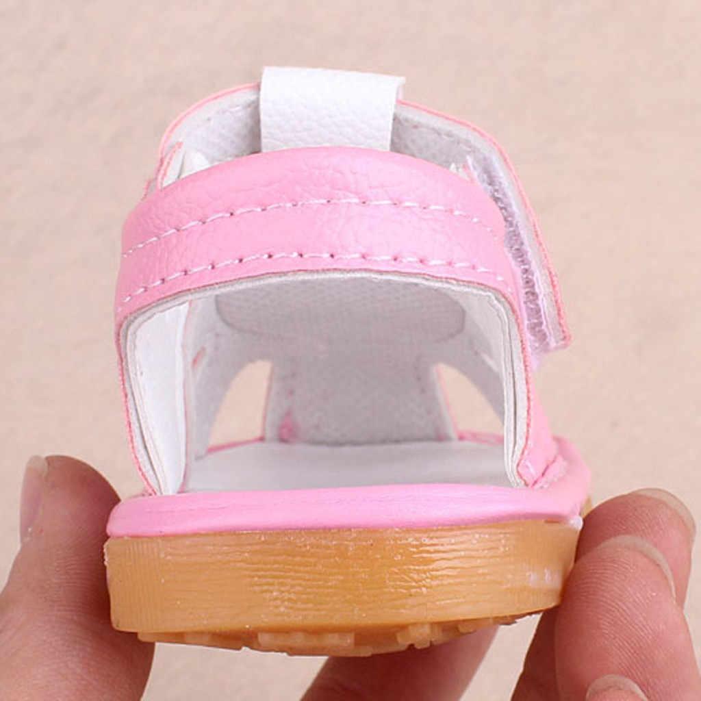 Zapatos de suela blanda Sandalia para niños y niñas recién nacidos, zapatos de suela blanda para primeros pasos
