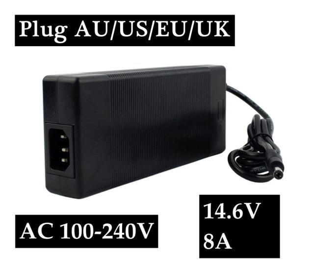 14.6 V 8A Carregador de Bateria LifePO4 Para A Vida PO4 Bateria