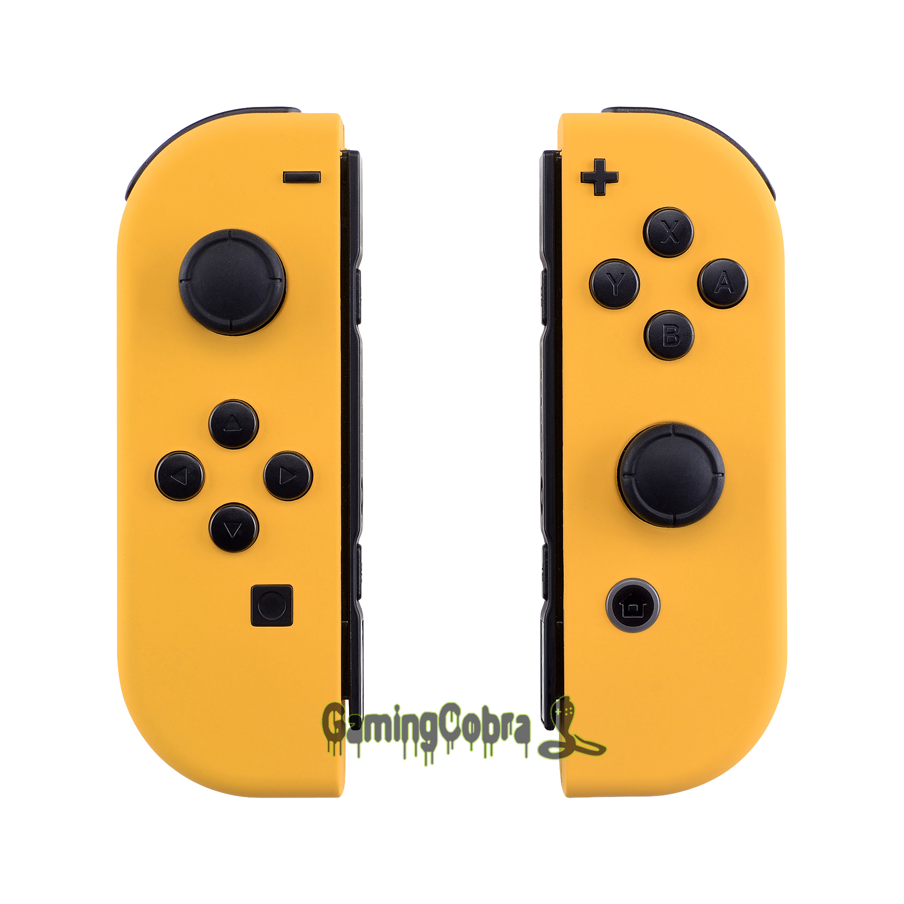 Custom Soft Touch Caution Yellow Controller Housing With Full Set Buttons DIY Replacement Shell Case For Nintendo Switch Joy-Con