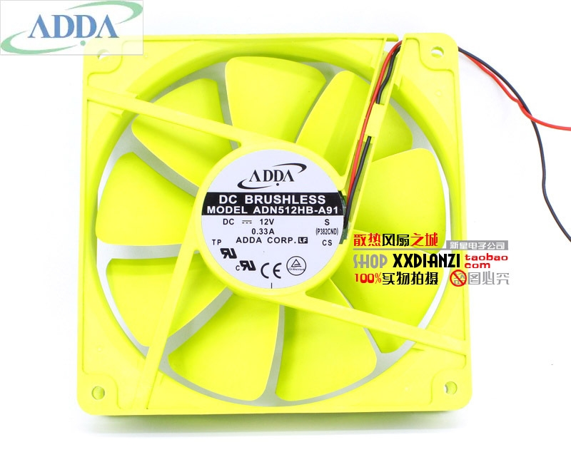 FOR ADDA 13525 ADN512HB A91 135*135*25mm 13.5cm 135mm  12V dual ball bearing cooling fan colorful Wholesale cooling fan ball bearing fancooling fan 12v - title=