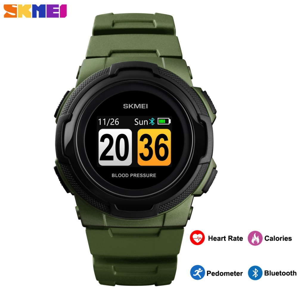 SKMEI Luxury Bluetooth Smart Watch Men Digital Waterproof Sport Military Clock Pedometer Calories Wristwatch relogio inteligenteSKMEI Luxury Bluetooth Smart Watch Men Digital Waterproof Sport Military Clock Pedometer Calories Wristwatch relogio inteligente