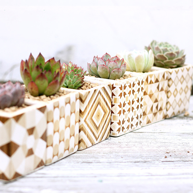 Set of 6 Ceramic Succulent Plant Pots