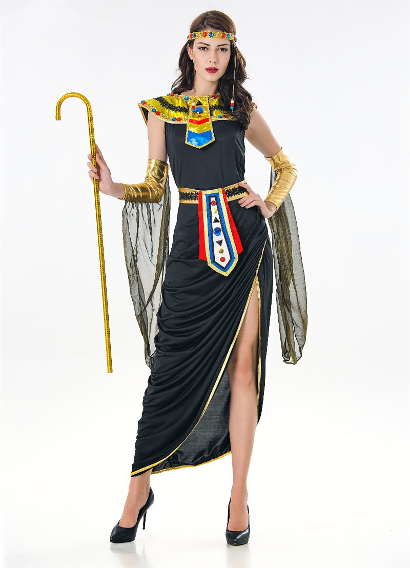 2018 Deluxe Sexy Egyptian Cleopatra Costume Ladies Cleopatra Roman Toga Robe  Costume Halloween Party Fancy Dress