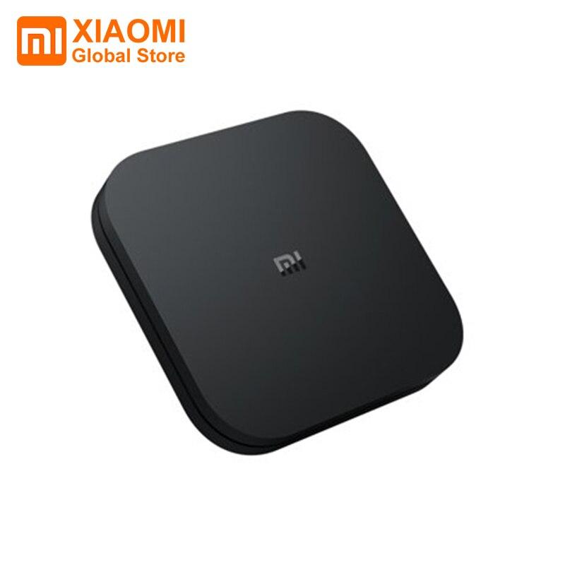 Version mondiale Xiao mi mi TV Box S 4K Ultra HD Strea mi ng lecteur multimédia Google Cortex-A53 Quad Core Android 8.1 2 go + 8 go décodeur TV