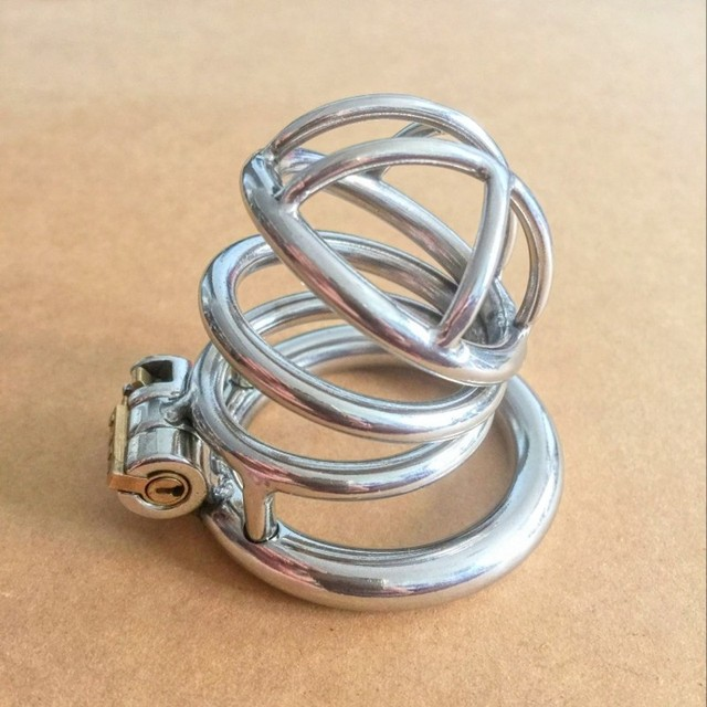New unique design Stainless steel Male Chastity Device Cage Penis Ring Sex toys for men S021