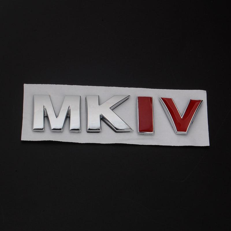 BARBECUE @ FUKA 1 pcs ABS MKIV autocollant De Voiture Coffre Arrière Badge Autocollant Emblème Decal Pour VW MKIV MK4 Jetta Golf G32 Bora beetle gli passat