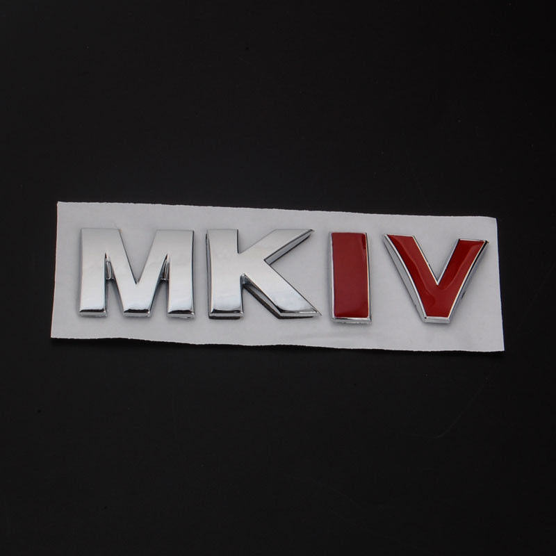 BBQ@FUKA 1pcs ABS MKIV Car sticker Rear Trunk Badge Emblem Sticker Decal For VW MKIV MK4 Jetta Golf G32 Bora beetle gli passat beler car grey interior dome reading light lamp itd 947 105 fit for vw golf jetta mk4 bora 1999 2004 passat b5 1998 2005