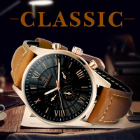 FORSINING Mens Watches Top Brand Luxury Automatic Mechanical Multi Functional 2 Dial Tourbillion Watch Brown Genuine
