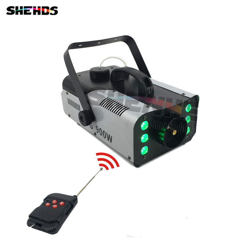 2017 Mini 900W RGB 3IN1 Remote Control fog machine  with Professional for Party KTV Disco DJ Stage Fogger Machine Free Shipping 4pcs lot led 900w smoke machine mini 900w rgb 3in1 remote control fog for party ktv disco dj stage fogger machine