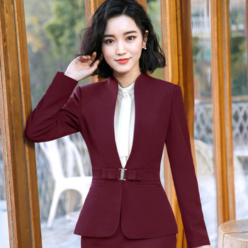 2018 Formal Elegant women's business Blazers trouser suits office sets business ladies plus size formal Jacket pants office lady 1