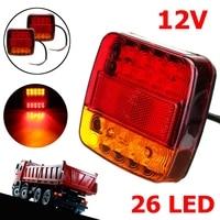 1 Pairs of 12V Rear Led Truck Plate ABS Trailer Heckleuchten Signal Light Tail Turn Brake Lamp