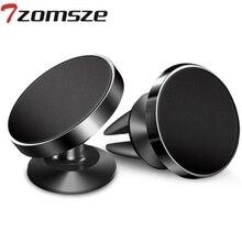 Coche magnético soporte para teléfono móvil Universal soporte para ventilador de aire del coche GPS del coche cuna 360 del anillo de la hebilla para el iPhone X 7