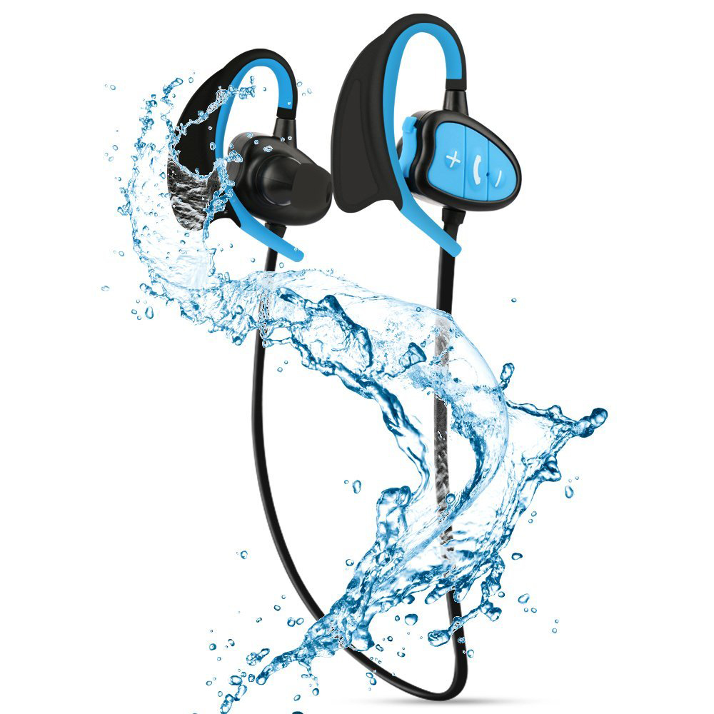 IPX8 Wasserdichte Bluetooth Kopfhörer CSR Wireless Stereo Headset mit Mikrofon Bass Sport Lauf Kopfhörer
