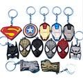 Superman VS Batman iron man Deadpool keychain ring toy set 2016 New Superhero Captain America shield helmet party decoration