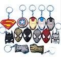 The avengers ironman Deadpool anel keychain brinquedo set 2016 New Superhero Spiderman Capitão América escudo capacete decoração do partido