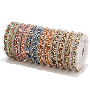 Image 5 - 8 meter Miyuki Zaad Glass Bead Chain 1.8mm Rvs Satelliet Kralen Tiny Ketting Voor Ketting Enkelbandje Armband Maken