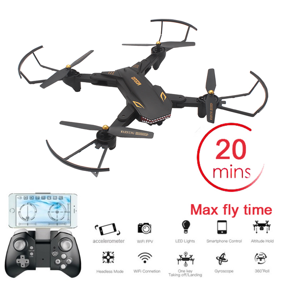 VISUO XS809S Sharks Dron 720P WIFI FPV With Wide Angle HD Camera Foldable RC Drone Quadcopter RTF Helicopter Toys VS E58 SG106