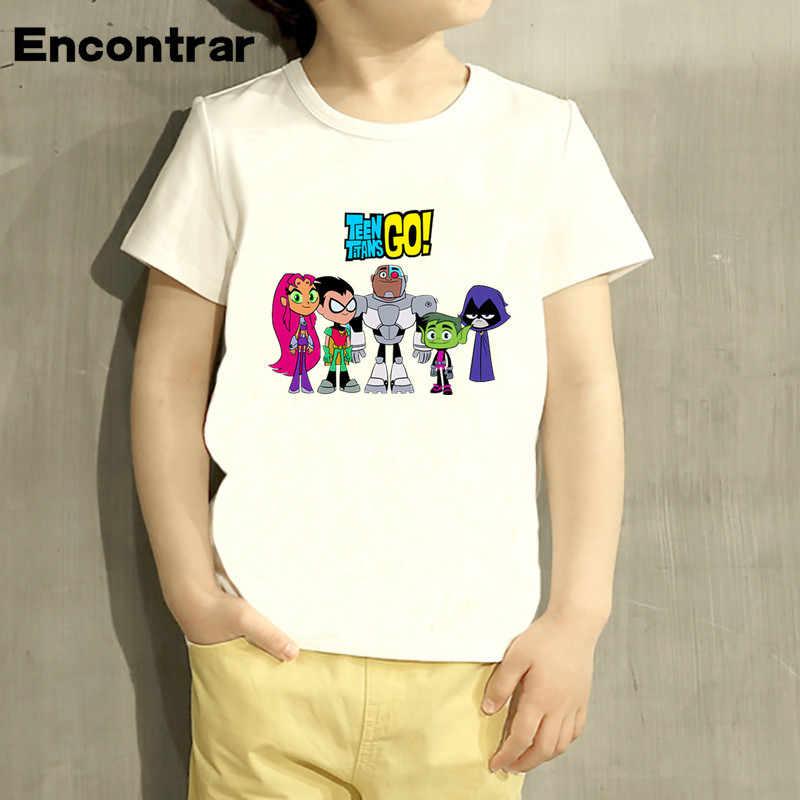 61df33c4d7ad ... Baby Boys Girl Teen Titans Go Cartoon Design T Shirt Kids Funny Short  Sleeve Tops ...