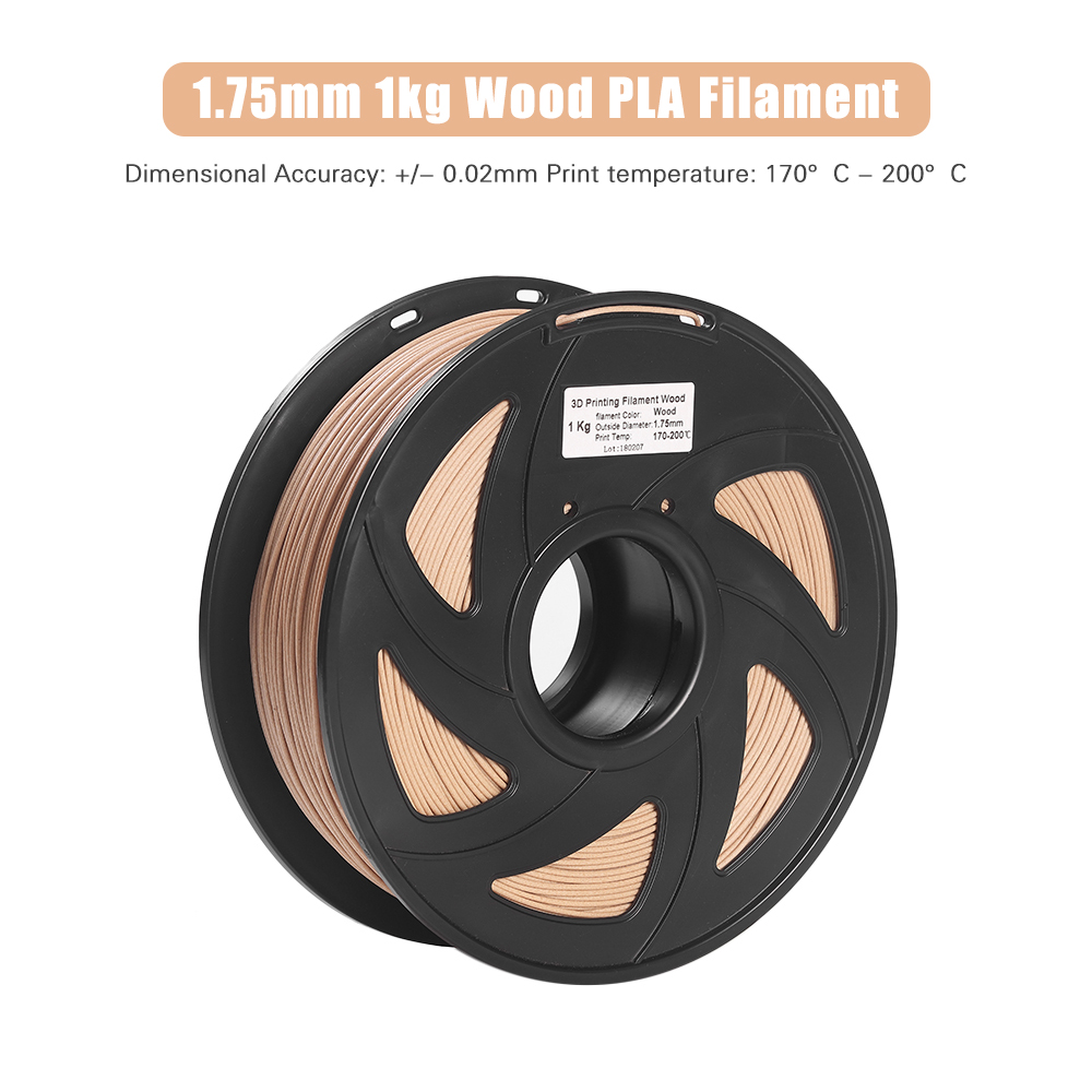 3D Printer Filament Wood + PLA 1.75mm 1kg Spool Dimensional Accuracy +/ 0.02mm Non toxic Eco friendly