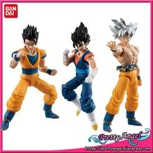 Оригинальная экшн фигурка Bandai Tamashii Nation SHODO Vol.6 Dragon Ball SUPER Son Goku Ultra Instinct & Gohan & Vegetto (9 см в высоту)
