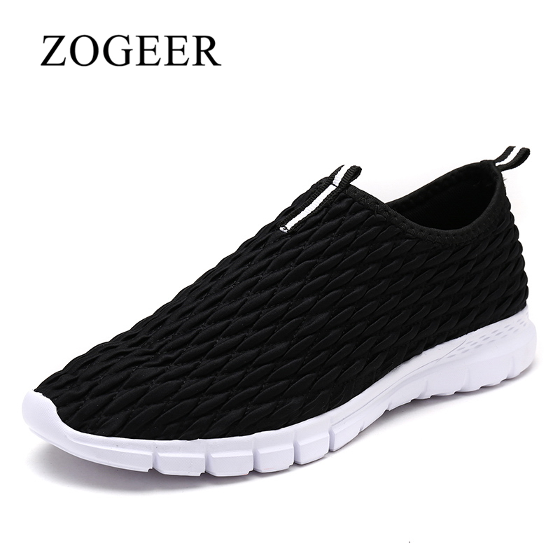 ZOGEER New Mens Loafers, Fashion Breathable Men Casual Shoes, 2018 Spring Brand Big Size 40-45 Men Shoes