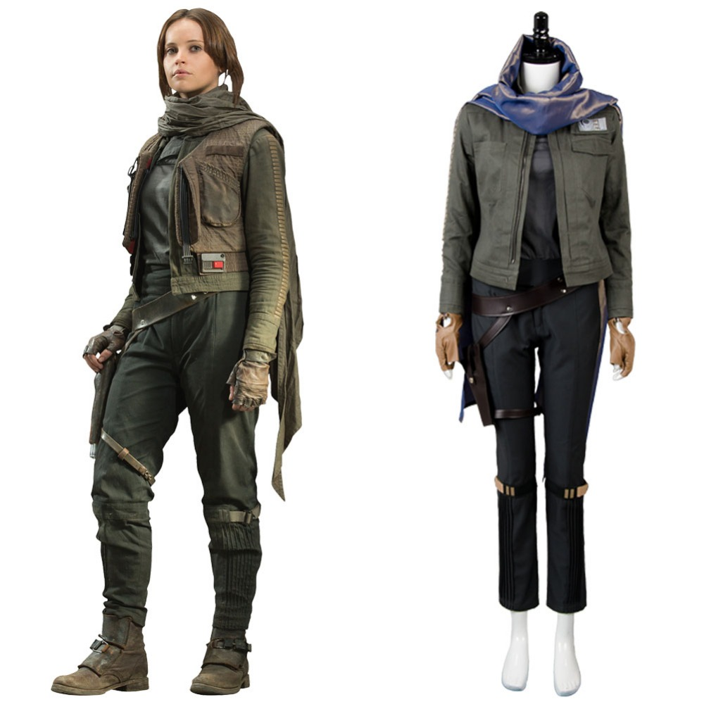 Rogue One A Star Wars Story Jyn Erso Cosplay Stardust Outfit Costume Full Set Uniform Halloween Carnival For Women