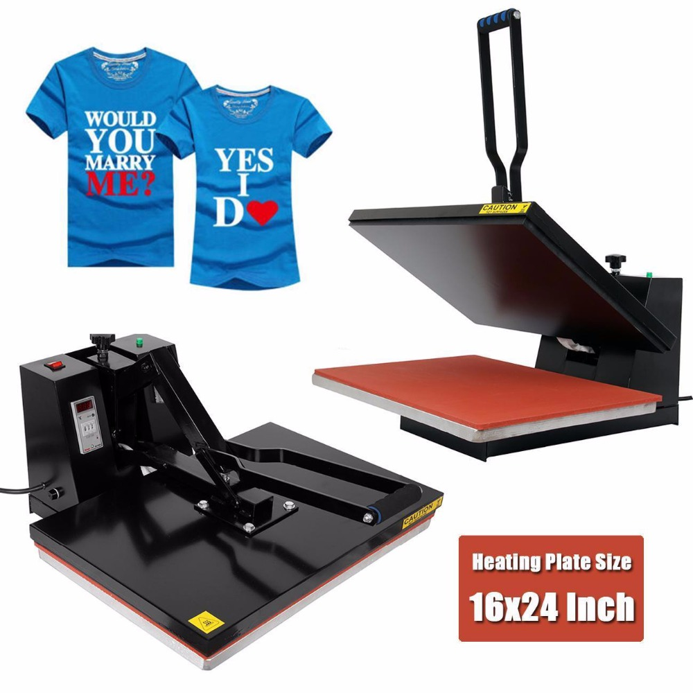(Ship From US) Digital Clamshell Heat Press Transfer T-Shirt Sublimation Machine 16