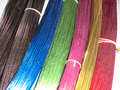 Free Shipping! 40 pcs/lot Multicolored Silk-Flower Materials Iron Wire For DIY nylon flower Mix Color 22# Commonly used