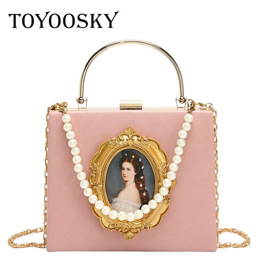 TOYOOSKY Women Bags Vintage Leather Messenger Bag Handbags European Style Clip Shoulder Retro Ladies Crossbody Flap