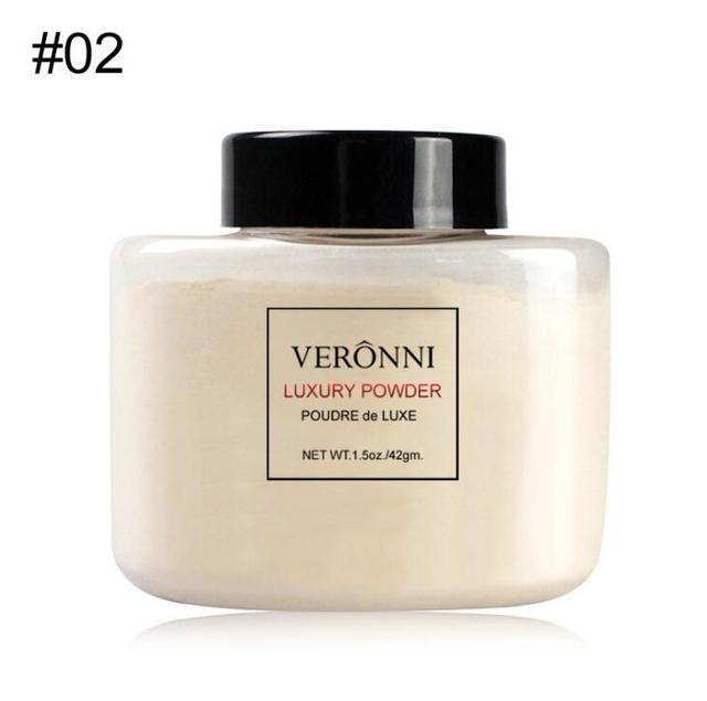 VERONNI Face Powder Makeup Matte Finish Loose Powder Natural Brighten Oil-control  Banana Loose Powder 42g 4