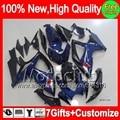 7gift K6  For SUZUKI GSXR750 06 07 Dark blue GSX R600 06-07 3MC8176 K6 Glossy blue GSXR600 R750 GSXR 600 750 2006 2007 Fairing