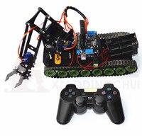 Удаленный Робот Танк рука робота пожаротушения робот Arduino PS2 Mearm
