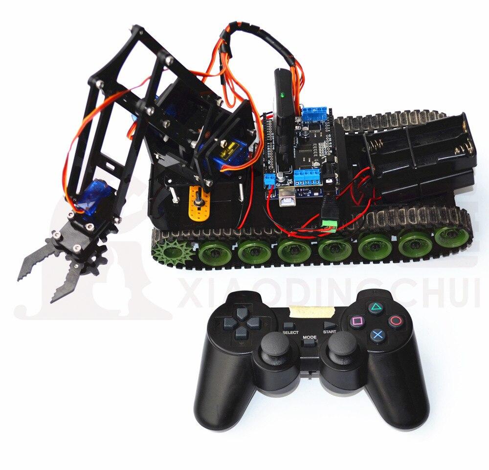 Robot réservoir à distance Robot bras extincteur Robot Arduino PS2 Mearm
