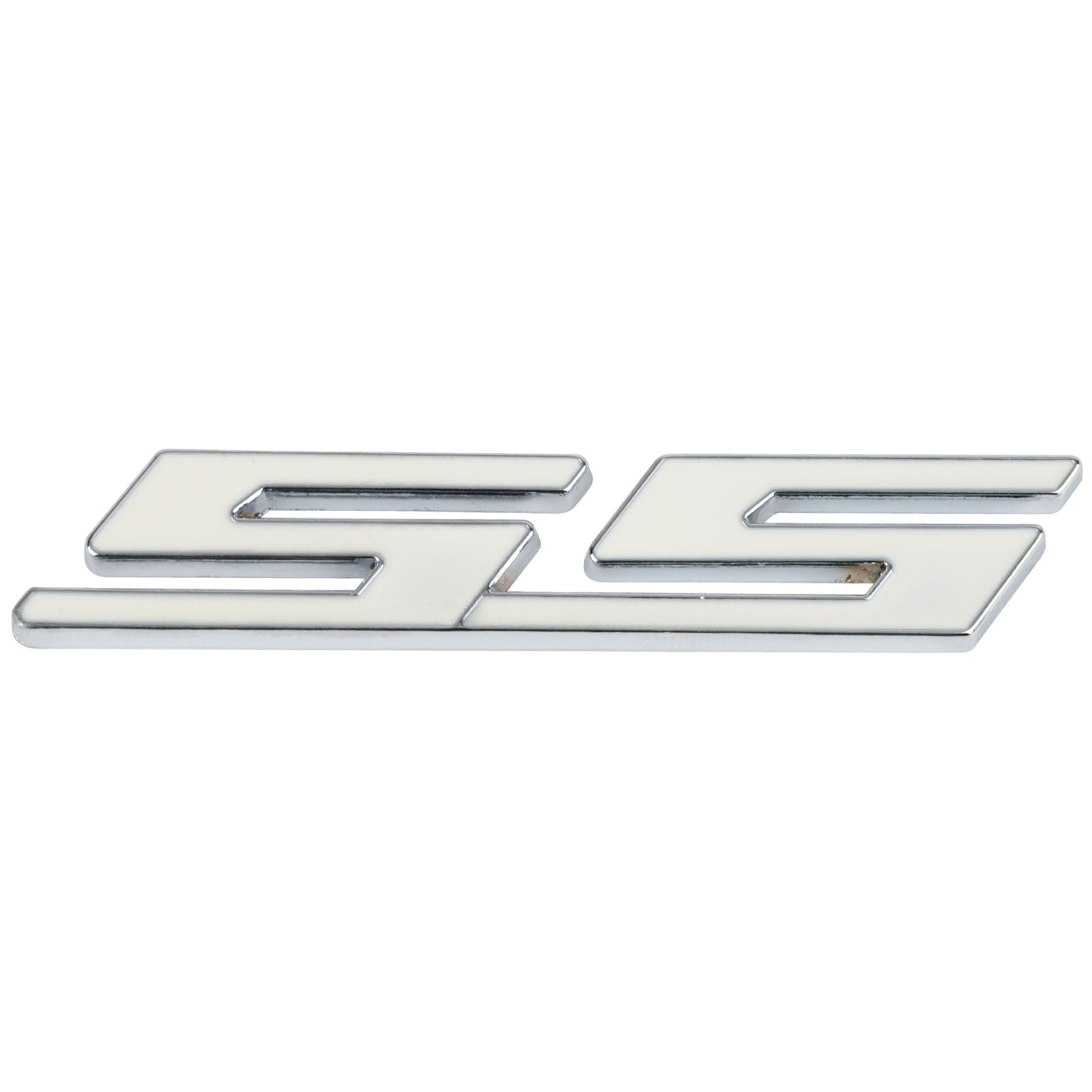 Mayitr high quality 3d metal white ss logo emblem sticker car body grille badge decal for